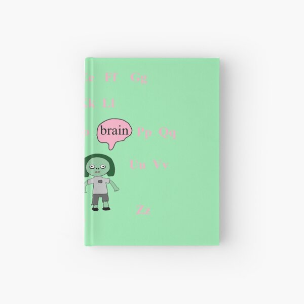Zombies Surrounded by the Alphabet  Hardcover Journal