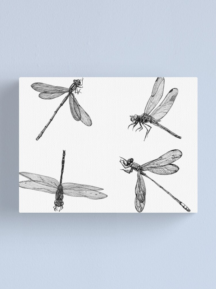 Alternate view of Dragonfly Flurry Canvas Print