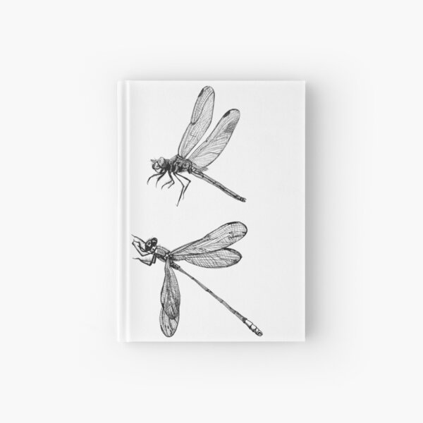 Dragonfly Flurry Hardcover Journal