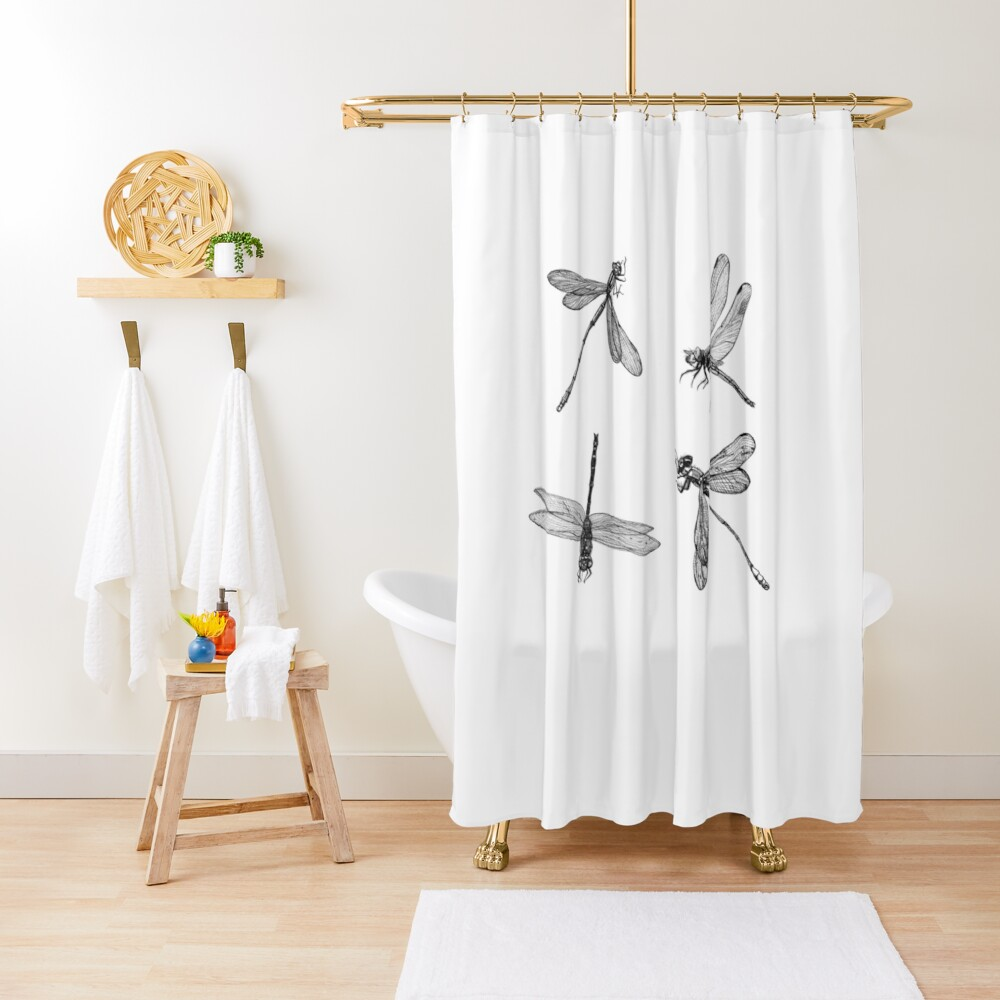 Dragonfly Flurry Shower Curtain