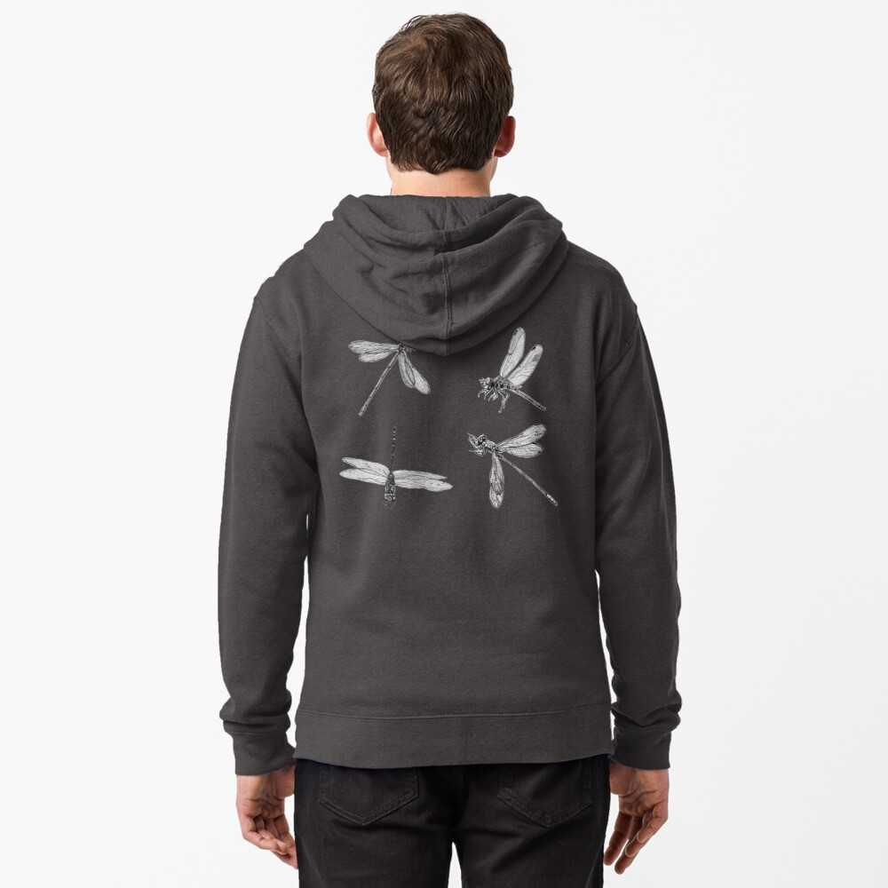 Dragonfly Flurry Zipped Hoodie
