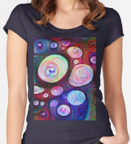 #DeepDream bubbles on frozen lake 5x5K v1450615886 Fitted Scoop T-Shirt