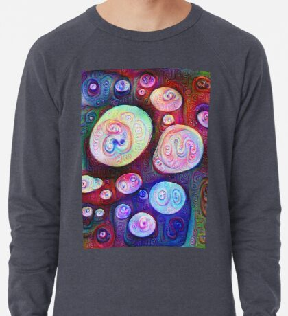 #DeepDream bubbles on frozen lake 5x5K v1450615886 Lightweight Sweatshirt