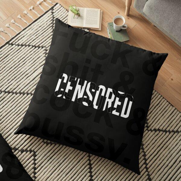Censored. Black on black Floor Pillow
