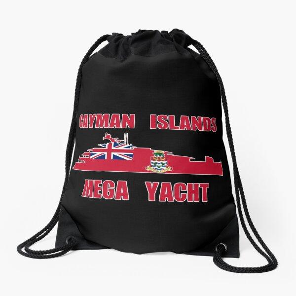 Cayman Islands Mega Yacht Drawstring Bag