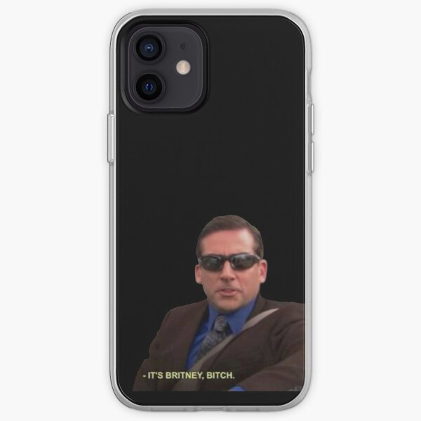 michael scott it's britney bitch the office iPhone Soft Case