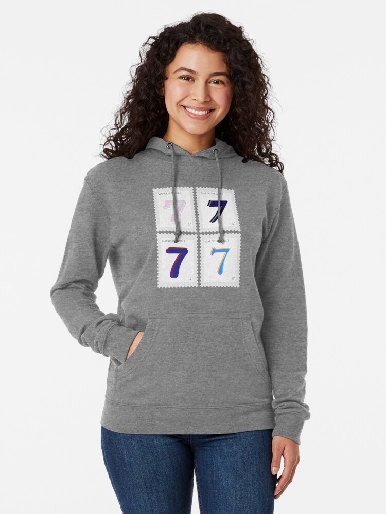 Alternate view of BTS Map of the Soul 7 Stamp Lightweight Hoodie