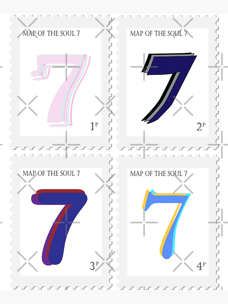 BTS Map of the Soul 7 Stamp by LondonKpopSt