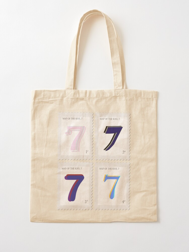 Alternate view of BTS Map of the Soul 7 Stamp Tote Bag