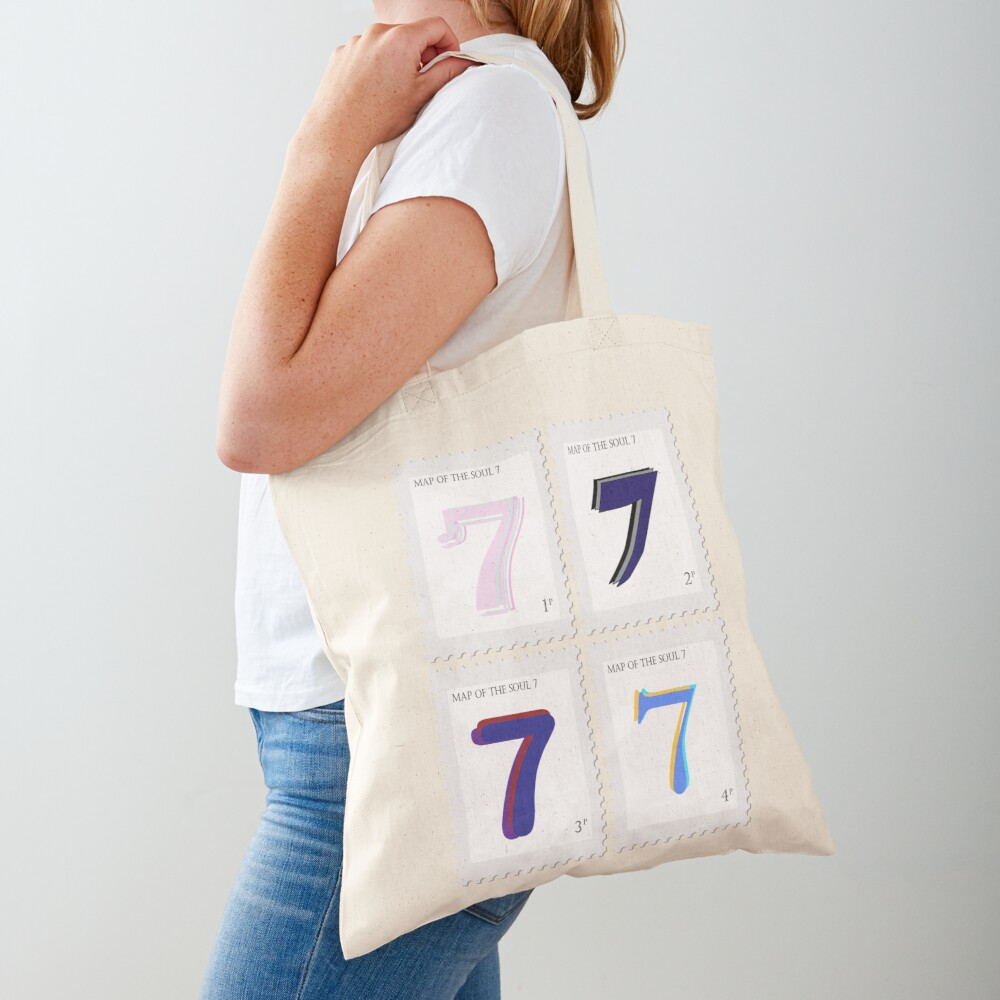 BTS Map of the Soul 7 Stamp Tote Bag
