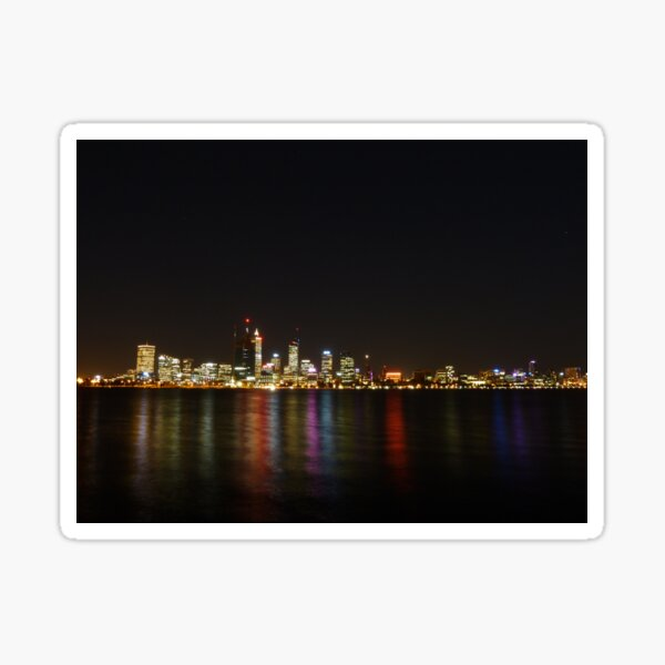 Perth Skyline - From the South Sticker