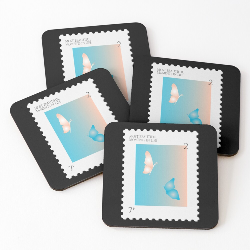 BTS Most Beautiful Moment Stamp Coasters (Set of 4)