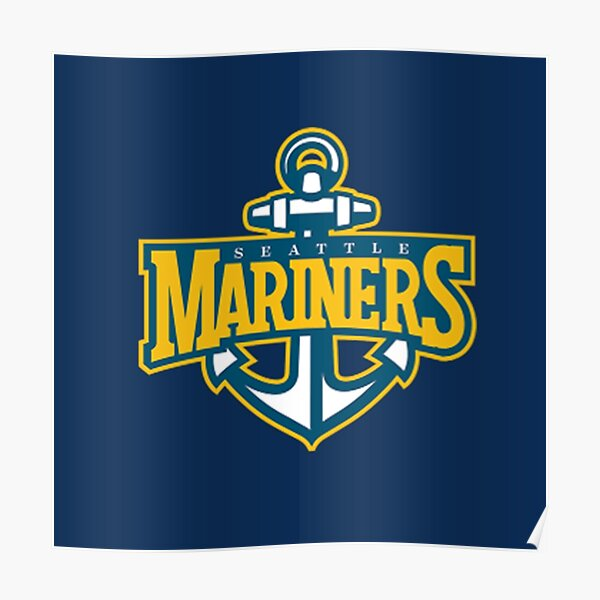True To The Blue Mariners Poster