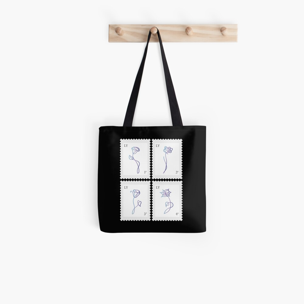 BTS Love Yourself Her Stamp Tote Bag