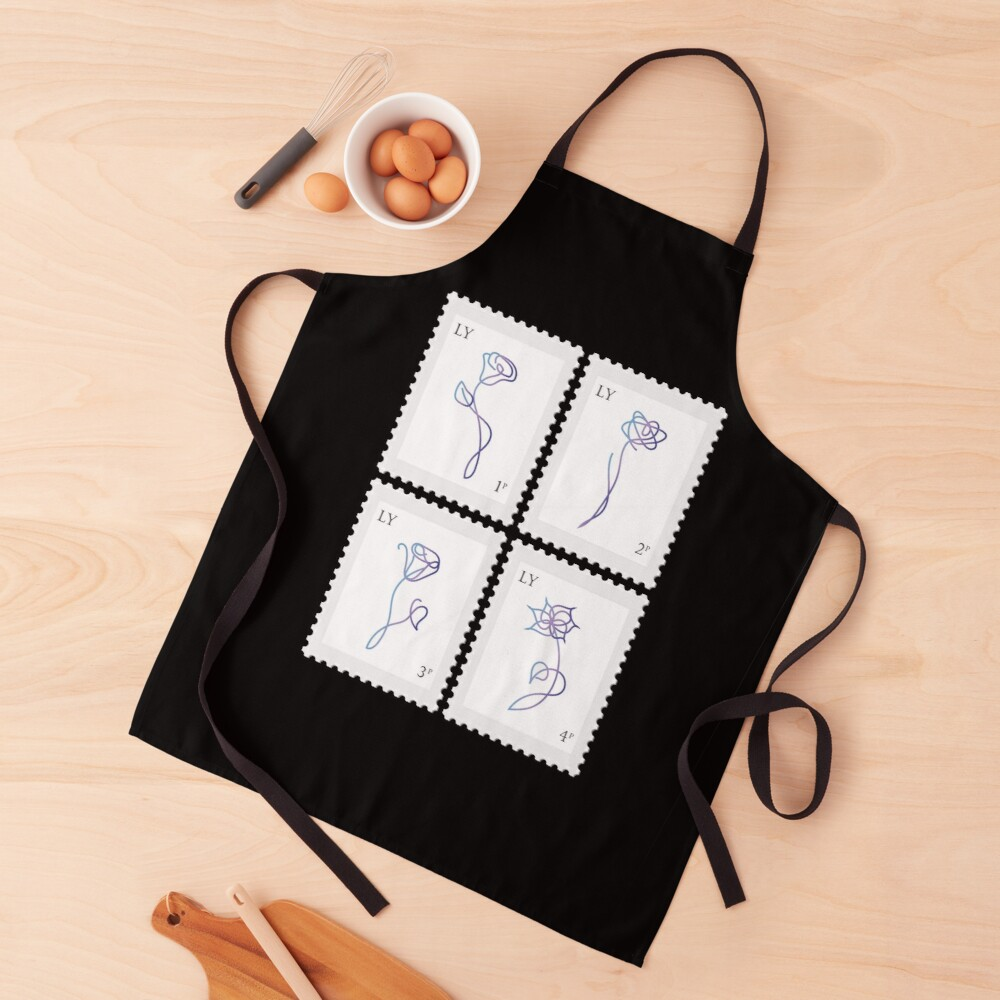 BTS Love Yourself Her Stamp Apron