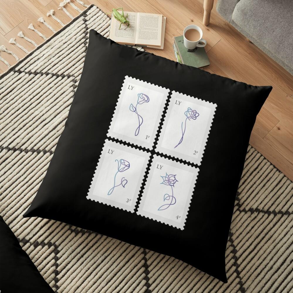 BTS Love Yourself Her Stamp Floor Pillow