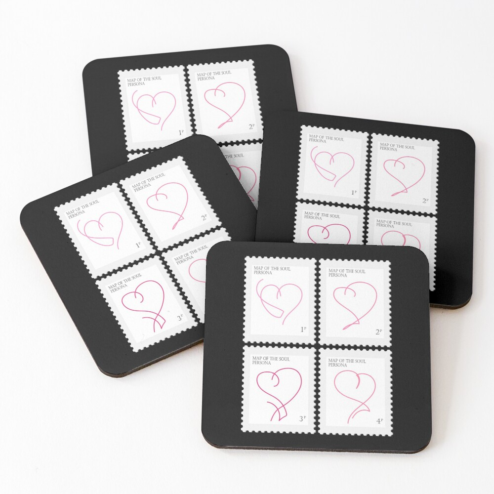 BTS Map of the Soul Persona Stamp Coasters (Set of 4)