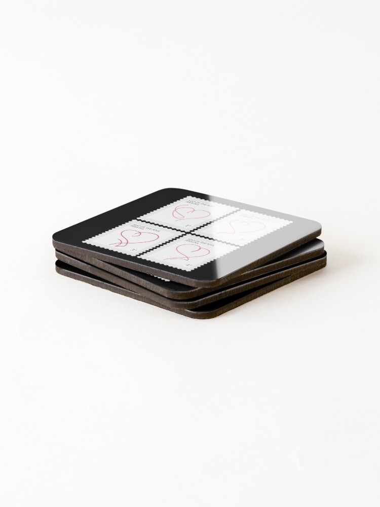 Alternate view of BTS Map of the Soul Persona Stamp Coasters (Set of 4)