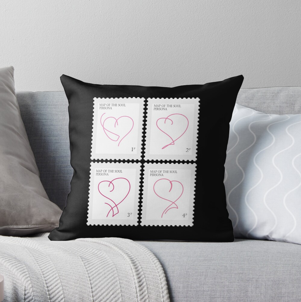 BTS Map of the Soul Persona Stamp Throw Pillow