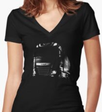 DAF, DAF Truck, DAF XF Women's Fitted V-Neck T-Shirt