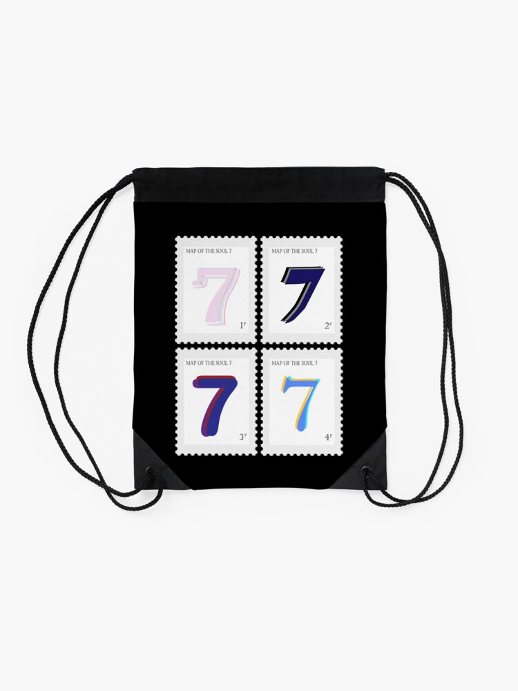 Alternate view of BTS Map of the Soul 7 Stamp Drawstring Bag