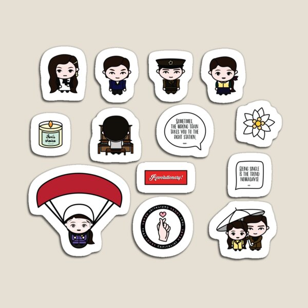 [CRASH LANDING ON YOU] Sticker Set Magnet