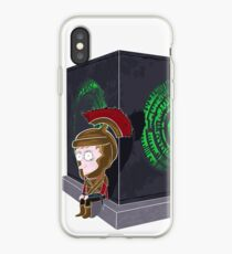 Waiting for a mad girl with red hair iPhone Case