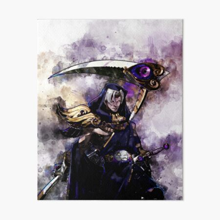 Hades game - Thanatos watercolor painting Art Board Print