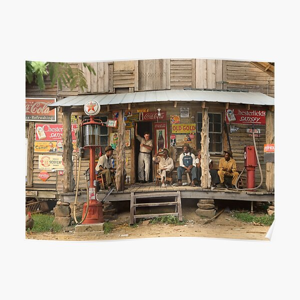Country store on dirt road, 1939 Poster