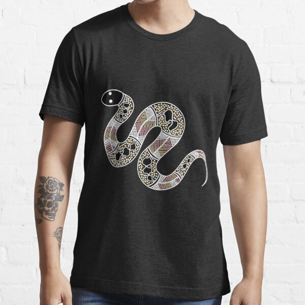 Authentic Aboriginal Art - Snake Essential T-Shirt
