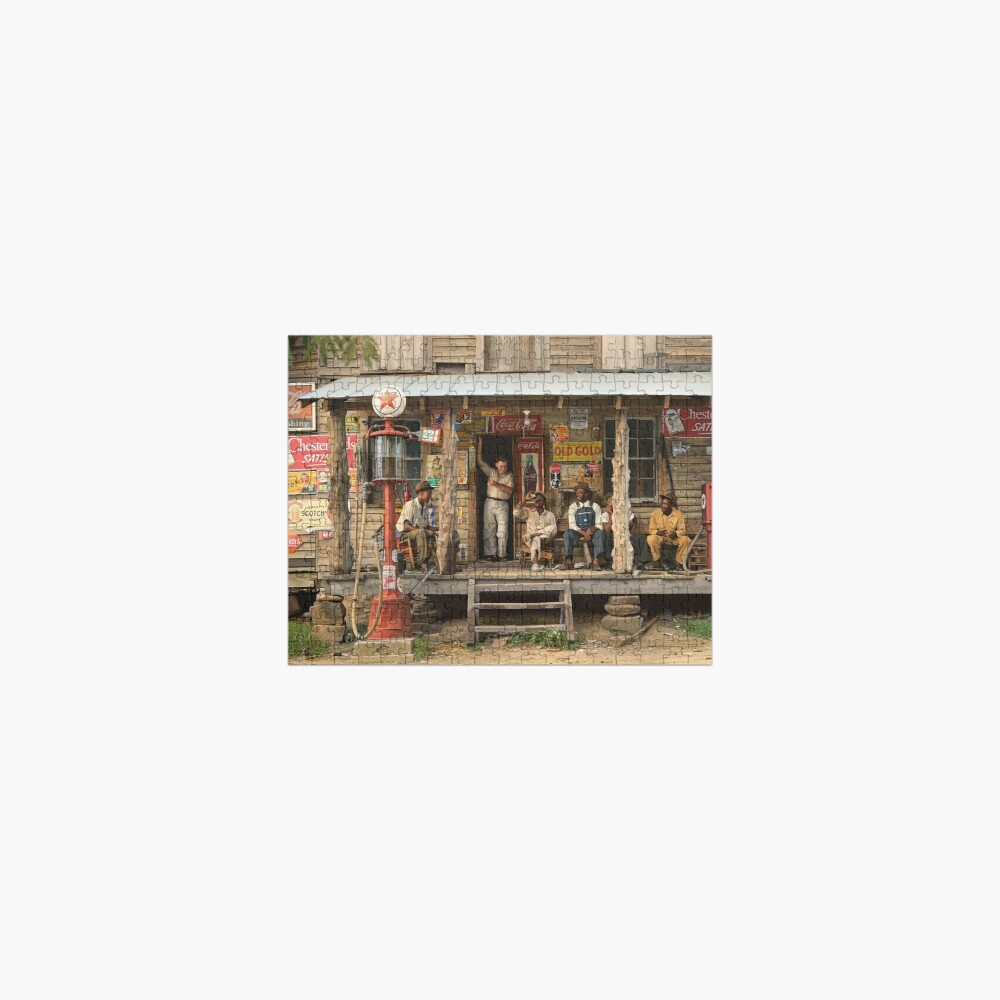 Country store on dirt road, 1939 Jigsaw Puzzle