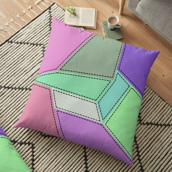 Stitched Patch Floor Pillow