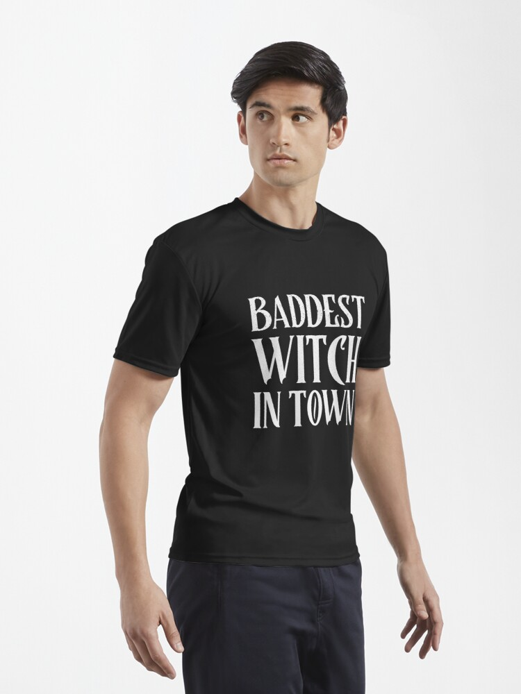 Alternate view of Baddest Witch in Town  Active T-Shirt