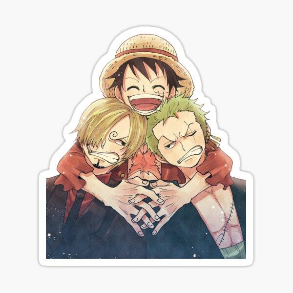 One Piece Luffy, Zoro et Sanji Sticker