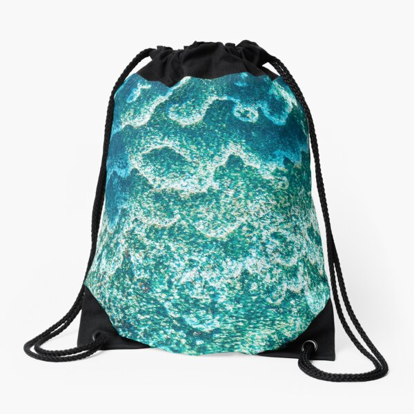 Reefs and waves Drawstring Bag