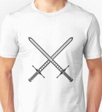 Crossed Swords Tattoo Design - Black Unisex T-Shirt