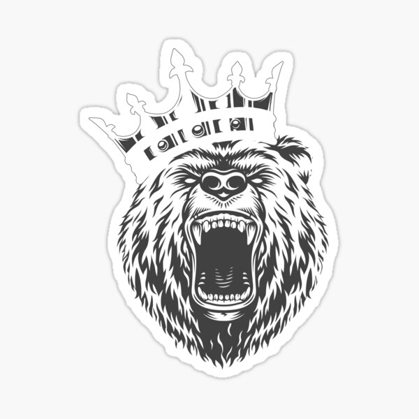 Animaux légendaires Grizzly Bear Vintage Sticker