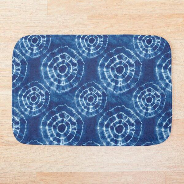 Shibori Japanese Style Tie Dye 8 Bath Mat