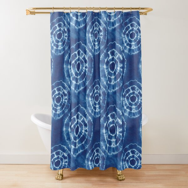 Shibori Japanese Style Tie Dye 8 Shower Curtain