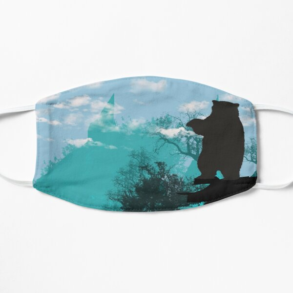 Evergreen nature mountains and pine Trees landscape Flat Mask