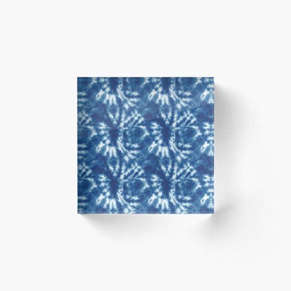 Shibori Japanese Style Tie Dye 9 Acrylic Block