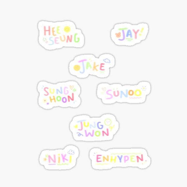 Pack d'autocollants ENHYPEN (7 noms + 1 logo) ☆ I-LAND Sticker