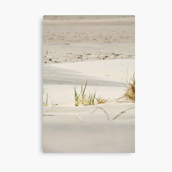 Calming soft golden sand on a beautiful beach Canvas Print