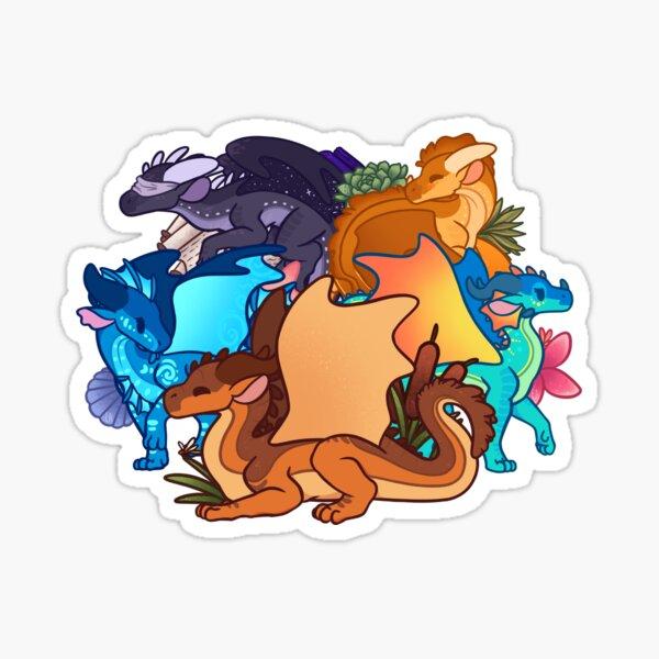 Chibi Dragonets of Destiny Sticker