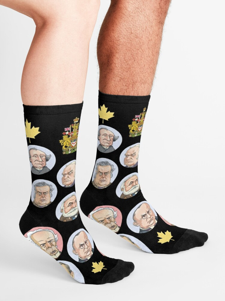 Alternate view of Prime Ministers of Canada Socks