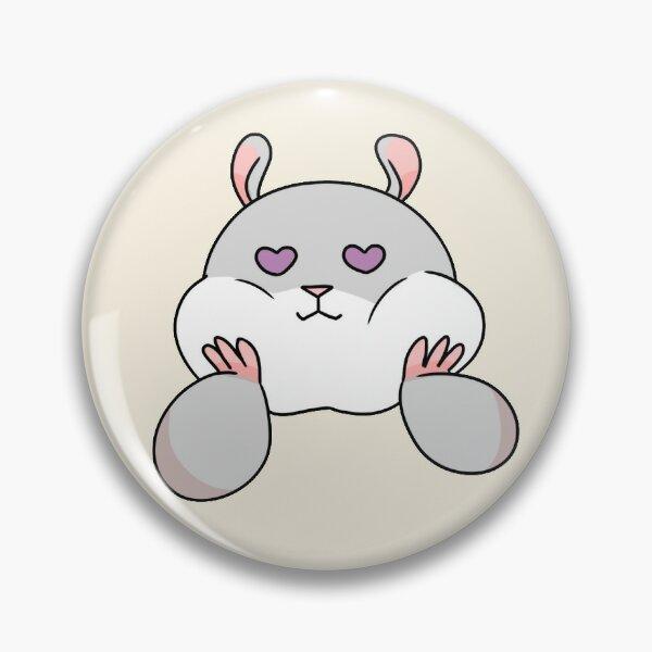 Tam the Tiny Hamster, with heart eyes. Pin
