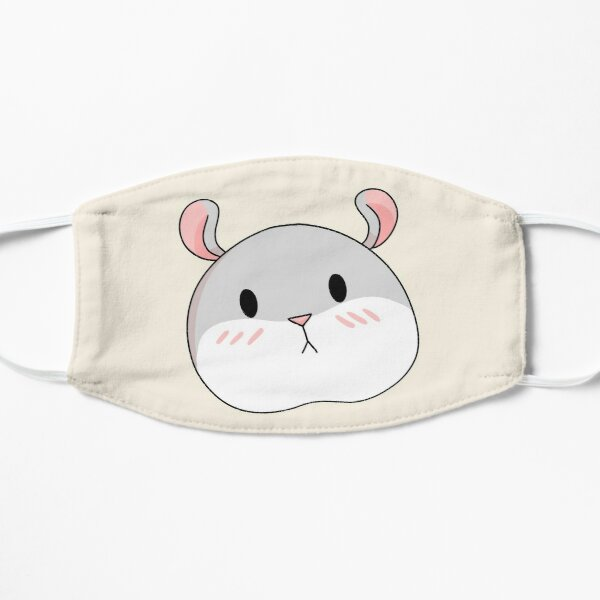 Tam the Tiny Hamster, blushing face. Flat Mask