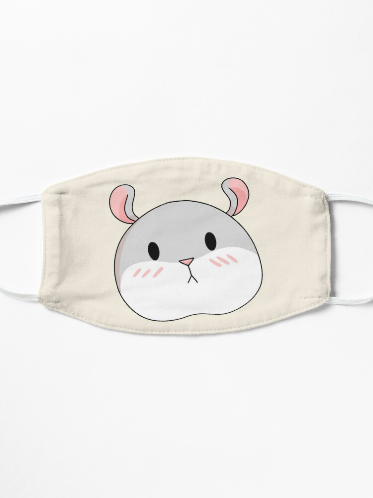 Alternate view of Tam the Tiny Hamster, blushing face. Mask