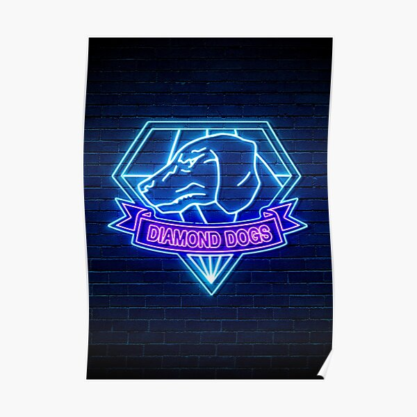 Diamond Dogs Neon Logo Poster