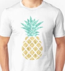 Goldene Ananas Unisex T-Shirt